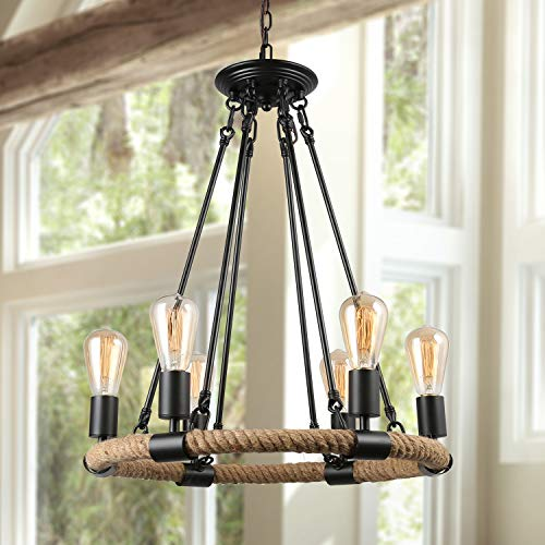 Lnc Rustic Farmhouse Chandeliers For Dining Rooms Pendant Lighting For Kitchen Island Living Room A0253202 Buy Online In Canada At Desertcart Productid 20233875