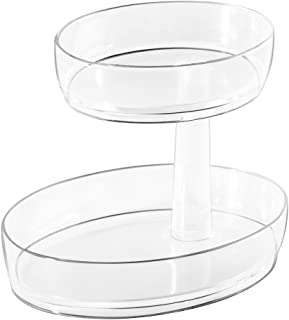 iDesign 2-Tier Clarity Vanity Tray, Clear