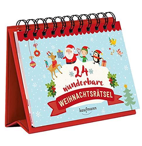 24 wunderbare Weihnachtsrätsel (Adventskalender für Erwachsene / Aufstell-Buch mit Rätseln)