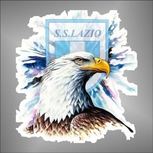 Aufkleber - Sticker Aquila Lazio ultras serie A champions league sticker