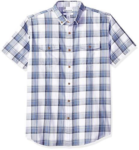 Amazon Essentials - Camisa regular de sarga con dos bolsillo