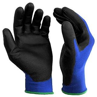 scheda s&r-12 paia guanti da lavoro protettivi 100% fibra di nylon con rivestimento in poliuretano. misura xl/10