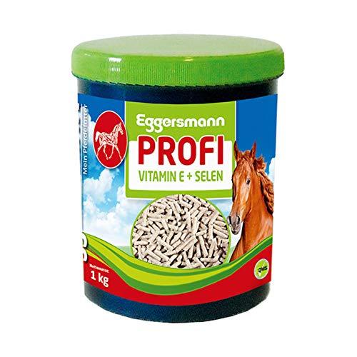 Eggersmann proffs vitamin E och sällsynta – kompletteringsfoder för häst – För stöd för musklerna – 1 kg burk