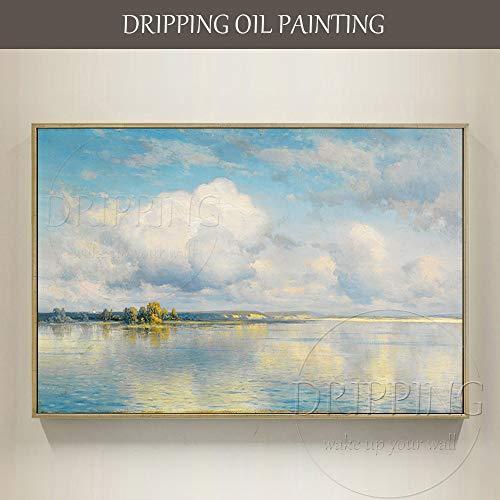 Das handgemalte Leinwandbild des Künstlers reproduziert das Ölgemälde des russischen Malers Konstantin Krisky