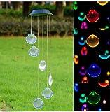 Cyfie Solarleuchte Windspiel, Farbwechsel Außenleuchten LED-Leuchten Windspiel für Hause Party Nacht Garten Dekoration, Muschel