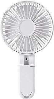 V-Trust 携帯扇風機 クリップ式/手持ち式/立て式 傘に挟む可能 USB充電式 折り畳み 3段階風量調節 スタンド機能 ハンディファン 卓上扇風機 小型 熱中症対策 室内/アウトドア用 (ホワイト)