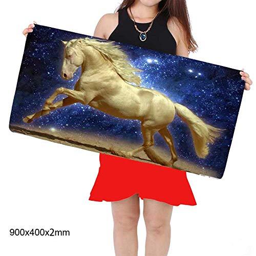 HonGHUAHUI paard toetsenbord rubberen mat computer gamers grote tafel muismat 350x600X2MM A02