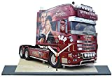 Camion, Truck, Scania Scarface en Horloge Miniature sur Socle 17