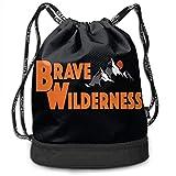 Bolsas de Gimnasia, Fashion Outdoor Shopping Satchel Rucksack Backpack Bundle Pocket Drawstring Bag Daypack, Brave Blunt Wilderness