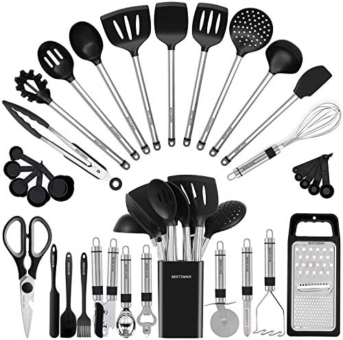 Kitchen Utensil Set Silicone Cooking Utensils 33 Kitchen Gadgets Spoons for Nonstick Cookware product image