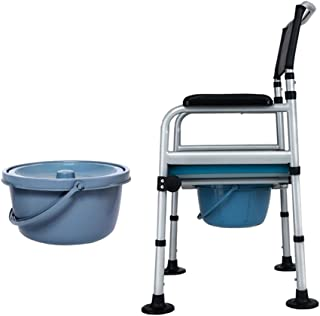 Deodorant Commodes Toilet/Adjustable Height Foldable Commode Chair Bath Toilet Chair Toilet Seats/Suitable for Pregnant Women Old Man