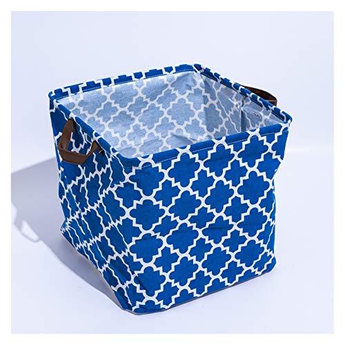 Storage Box Folding Laundry Basket for Kids Toy Storage Basket Sundries Books Dog Toys Organizer (Color : D4, Size : 33x33x33cm)