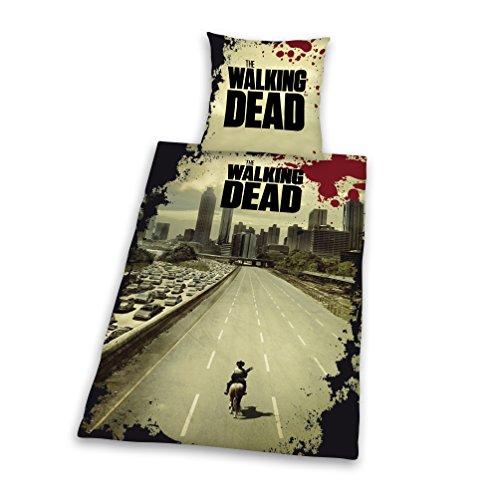 """Herding, Set Copripiumino singolo e federa """"The Walking Dead"""", Multicolore (Mehrfarbig), 135 cm x 200 cm"""
