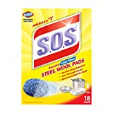 SOS Stahlwolle Seife Pads, 18Zählen