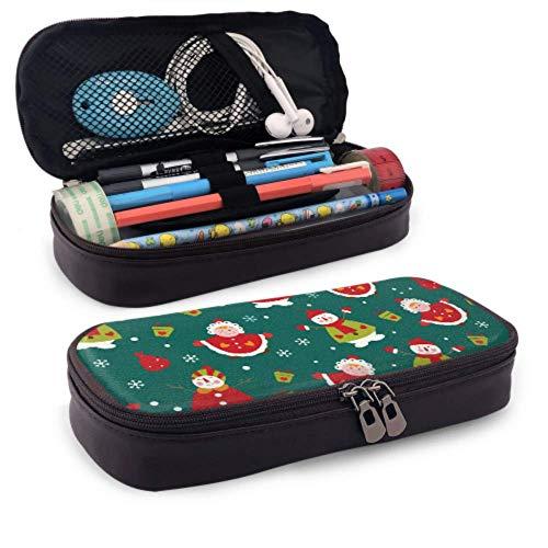 Estuche para lápices Estuche para bolígrafos de gran capacidad Doble cremallera Navidad...