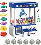 Bundaloo Shark Claw Machine Arcade Game for Kids - Candies, Toys, Prize Grabber, Mini Vending Dispenser - 30 Tokens, 3-Lever Design, Fun Sound Effects