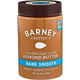 BARNEY Almond Butter, Bare Smooth, No Sugar No Salt, Paleo, KETO, Non-GMO, Skin-Free, 16 Ounce