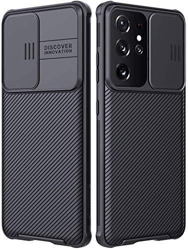 Nillkin CamShield Pro Kompatibel mit Samsung Galaxy S21 Plus Hülle 5G, [Kameraschutz] mit Diakameraabdeckung, Schlanke, stilvolle Schutzhülle Kompatibel mit Samsung Galaxy S21+ 6.7 Zoll-(Schwarz)