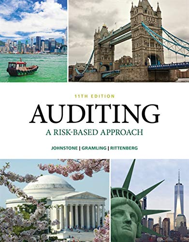 Compare Textbook Prices for Auditing: A Risk Based-Approach 11 Edition ISBN 9781337619455 by Johnstone-Zehms, Karla M,Gramling, Audrey A.,Rittenberg, Larry E.