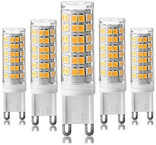 [5-Pack] Dimmable G9-7.5W LED Bulbs, Equivalent to 80W 75W 60W Halogen Bulb, Warm White 3000K,G9 Bi Pin Base Bulb,360 Omni-Direction Beam Angle,AC 110V/120V/130V