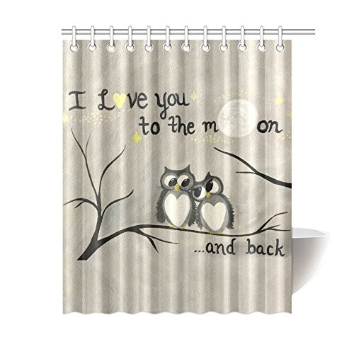 Two Owls Shower Curtain