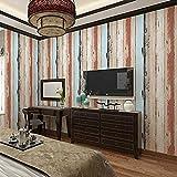 Papel tapiz a rayas_color imitación de grano de madera papel tapiz a rayas Tienda de ropa Barra de e Pared Pintado Papel tapiz 3D Decoración dormitorio Fotomural sala sofá pared mural-400cm×280cm