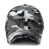Custom City Camo Baseball Cap E-3 Aircraft Name Embroidery Acrylic Hunting Dad Hats for Men & Women Strap Closure City Camo Personalized Text Here