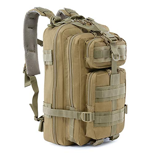 ROARING FIRE Military Tactical Assault Backpack, EDC Outdoor Backpack, Trekking Backpack, 30L Army Rucksack Molle Bug Out Bag, Go Bag, Get Home Bag for EDC, Tactical Use, Camping, Hiking, Hunting