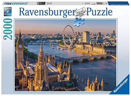 Ravensburger Puzzle 2000 Pezzi, Puzzle Atmosfera Londinese, Collezione Foto e Paesaggi, Jigsaw Puzzle per Adulti, Puzzles Ravensburger - Stampa di Alta Qualità, Dimensione Puzzle: 98x75cm