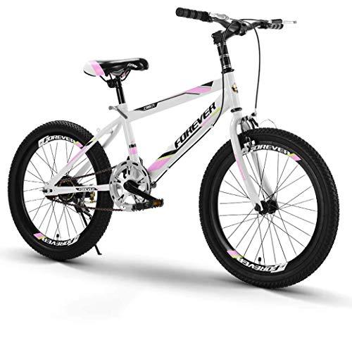 ZHTY Bicicleta de montaña de Velocidad Variable de 20 Pulgadas, cómodo sillín, Pedal Antideslizante, Bicicleta para niños, Bicicletas de montaña con Freno Seguro y Sensible