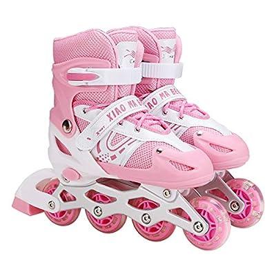 Amazon - Save 80%: ASOT Adjustable Inline Skate Light up Roller Skates for Girls Boys for…