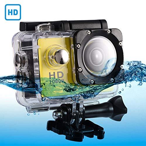 Mugast DV sportcamera, 7 kleuren, waterdichte outdoor wielersport 2,0 inch HD scherm DV actiecamera camcorder met USB opladen geheugenkaarten eenvoudig te installeren