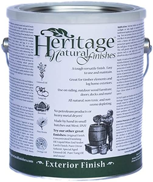 Heritage Natural Finishes Exterior Finish All Natural And Nontoxic Oil Finish With UV Inhibitor And Mildewcide Can Be Reapplied Yearly Without Stripping Old Finish 1 Gallon