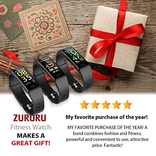 ZURURU Fitness Tracker with Blood Pressure Heart Rate Monitor, IP68 Waterproof Activity Tracker Fit Smart Watch with 10 Sport Modes Pedometer Calorie Step Counter for Women Men (Royal Blue) 4