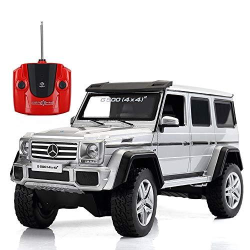 Poooc Coche eléctrico para niños Motorizado 2.4G Tracción en las cuatro ruedas Modelo de alta velocidad con luces LED Mejor regalo Radio de alta velocidad Controlado Recargable Electrónico Carrera dep