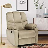 Dorel Living Boston Power Plush Microfiber Fabric with Quiet Motor, Beige Recliners