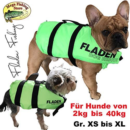 Mega Fishing FLADEN Hunde Schwimmweste - Rettungsweste/Schwimmhilfe - XS bis XL - bis 40kg (S / 3-7kg / Rückenlänge: 21cm)