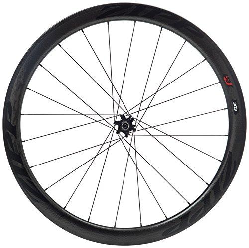 Zipp 303 Tubular Disc Brake V2 77D Front 24 Spokes Black Decal (Special Order) - Rueda para Bicicletas, Color Negro