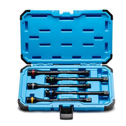 Capri Tools 30083 Torque Limiting Extension Bar Set (5...