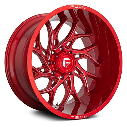 Fuel D742 RUNNER 1PC Custom Wheel, 22x10, -18 Offset, 8x165.1 Bolt Pattern, 125.2mm Hub - Candy Red with Milled Accents Rim