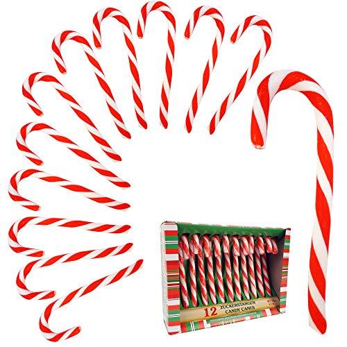 Cepewa Zuckerstange Candy Baumschmuck Christbaumdeko Weihnachtsdeko 12er Set