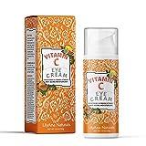 Vitamin C Eye Cream by LilyAna Naturals - Anti-Aging Benefits of Vitamin C for your Eyes, Brightening Eye Cream, Eye Cream for Dark Circles, Eye Brightening Cream - 1oz
