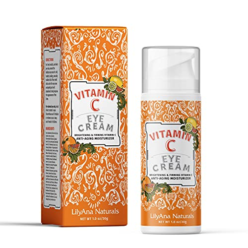 Vitamin C Eye Cream by LilyAna Naturals - Vitamin C for your Eyes, Brightening Eye Cream, Eye Cream for Dark Circles, Eye Brightening Cream - 1oz