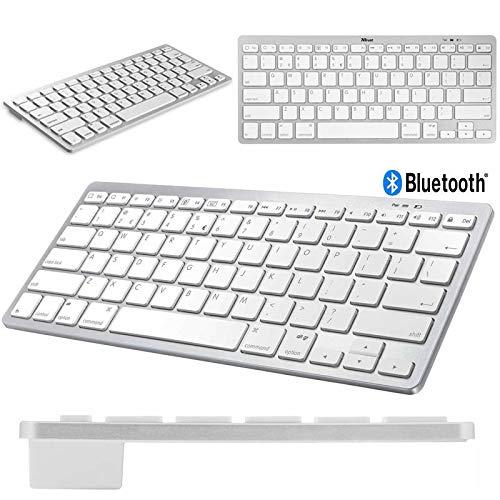 Teclado Bluetooth para iPad Mini 5 Branco/Prata