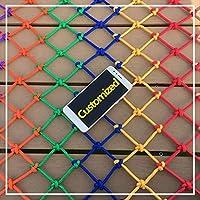 子供用セーフティネット保護ネットバルコニー階段落下防止ネット幼稚園色装飾ネットフェンスネットワーク長さ1M / 9M手編み伝統的な構造 (Color : Outdoor, Size : 1*6m)