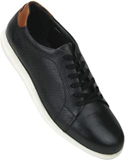 blackberrys Mens Leather Lace Up Sneakers