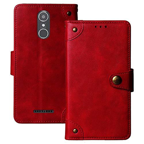 Dingshengk Retro Flip Rot Echt Leder Tasche Hülle Für Gigaset GS160 5