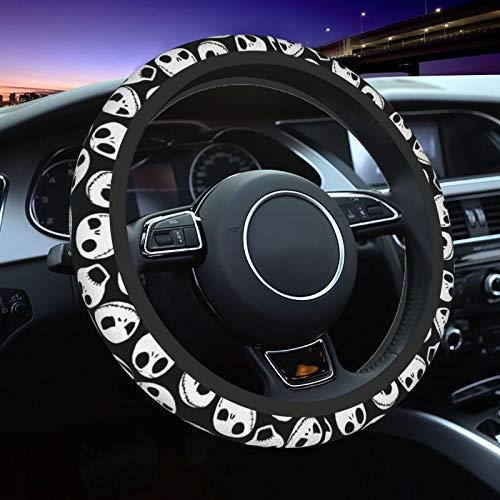 Kechun The Nightmare Before Christmas Universal Car Steering Wheel Covers Cute Cover Accessories Protective Case Anti-Slip Neoprene Fit Most Sedan, SUV