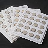 WindMax 100 Pieces CR2032 Li-ion Lithium Battery Batteries 3V Coin Button Cell for LED Tea Light Candles