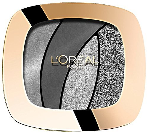 L'Oréal Paris Color Riche Quads Eyeshadow, S11 Fascinating Silver - Lidschatten Palette für ein...